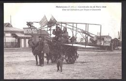 CPA 28 Maintenon Calvalcade Du 28 Mars 1909 Char De L'aeroplane Par Dupez Et Gauzentes - Maintenon