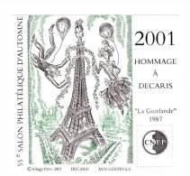 Bloc CNEP N° 34 : Hommage à Albert Decaris 2001 . Voir Le Scan . Cote Maury : 13 € . - CNEP