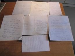 Fac simil�s autographes de : Littr� - George Sand - Banville - Dorgel�s -Cocteau -Jules Romains