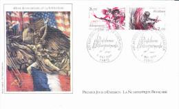 PARIS (75), 40 ème Anniv. De La Libération, Résistance, Débarquements, Dessin J.P. Veret-Lemarinier,, FDC, 08/05/1984 - FDC