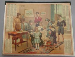 (Calendriers) 006, calendrier Almanach des Postes et de la T�l�graphie ann�e 1917, Il est complet avec un cahier de 6 fe