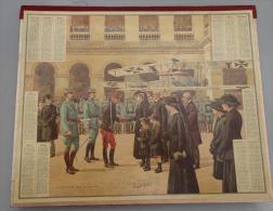 (Calendriers) 007, calendrier Almanach des Postes et de la T�l�graphie ann�e 1918, Il est complet avec un cahier de 6 fe