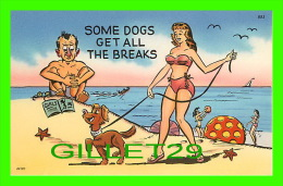 COMICS - HUMOUR - SOME DOGS GET ALL THE BREAKS - TICHNOR QUALITY VIEWS - - Bandes Dessinées