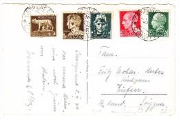 Italien - 6.10.1940 Campione D´Italia Como Mi.# 299, 301, 302, 303, 304 Auf AK Campione Casino - Italien