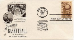 US FDC #1189 Basketball, ArtCraft 1961