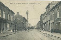 Gilly - Chaussée De Châtelet , Vers Les Quatre-Bras - Tram  - 1920 ( Voir Verso ) - Charleroi