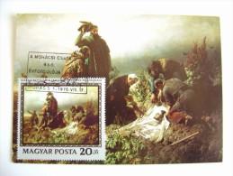 1976  BERTALAN     MAGYAR POSTA      MAXIMUM     COVER  PREMIER JOUR  FDC FIRST DAY - Malerei & Gemälde