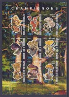 CBN55 - Champignons Mushrooms - Bloc feuillet Neuf ** MNH - C �te d'Ivoire 2011