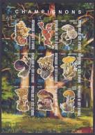 CBN55ND - Champignons Mushrooms - Bloc feuillet Neuf ** MNH Non dentel� - C �te d�Ivoire 2011