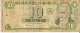 BILLETE DE NICARAGUA DE 10 CORDOBAS DEL AÑO 2002   (BANK NOTE) - Nicaragua