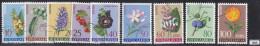YUGOSLAVIA 1961; Mi: 943 - 951 set; USED; Yugoslavian flora, Flowers