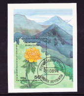Kirgisien Kyrgyzstan Kirghizistan - Blumen 1994 - gest. used obl.