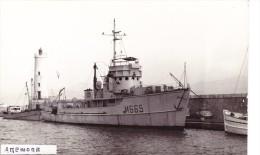 batiment marine militaire dragueur an�mone M 665 ex USS YMS-34 et D 311 signee giorgio ARRA