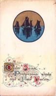 VERY OLD & VINTAGE GREETINGS CARD - SEASON'S GREETINGS - Magnets