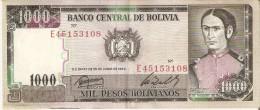 BILLETE DE BOLIVIA DE 1000 PESOS BOLIVIANOS DEL AÑO 1982 (BANKNOTE) - Bolivia