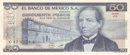BILLETE DE MEXICO DE 50 PESOS DEL AÑO 1976 (BANKNOTE) - Mexique