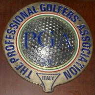 ITALIA - ARTISTICO FERMACARTE PROFESSIONAL GOLFERS ASSOCIATION ITALY - Abbigliamento, Souvenirs & Varie
