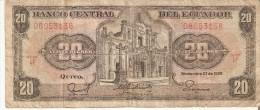 BILLETE DE ECUADOR DE 20 SUCRES DEL AÑO 1988   (BANKNOTE) - Ecuador