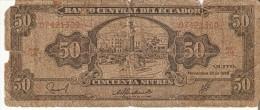 BILLETE DE ECUADOR DE 50 SUCRES DEL AÑO 1988   (BANKNOTE) - Ecuador