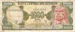 BILLETE DE ECUADOR DE 1000 SUCRES DEL AÑO 1988 (BANKNOTE) - Ecuador