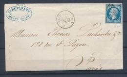 1862 Lettre N°14 Obl PC1145 DUCEY MANCHE(48) N1254 - 1801-1848: Précurseurs XIX