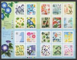 Japan (2014)  - 2 MS -  /  Flowers - Blumen - Fleurs - Letter Writting Day - Birds - Oiseaux - Rabbit - Lapin