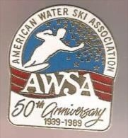 37393-Pin's.ski Nautique.American Water Ski Association. - Water-skiing