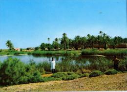 AK Libyen LIBYA LAKES LAGHETTI  ALTEN POSTKARTEN - Libyen