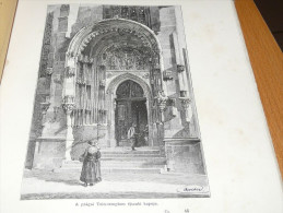 Praha Prague Tein Kostel Ceska Republika Holzschnitt Gravur 1888 - Prints & Engravings