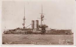 HMS Commonwealth British Warship Battleship Navy, C1910s Vintage Real Photo Postcard - Guerra
