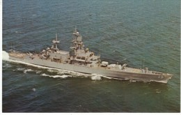 USS Bainbridge (CGN-25), Nuclear Powered Guided Missile Cruiser, US Navy, C1960s Vintage Postcard - Warships