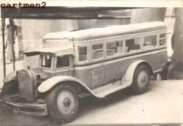CARTE PHOTO : AUTOBUS GUNTHERMAN 1930 ALLEMAGNE JEU JOUET TOY Dinky Toys JEP NOREV MINALUXE SCHUCO - Photographs