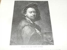Brandl Peter Self-Portrait Ceska Republika Holzschnitt Gravur 1888 - Prints & Engravings