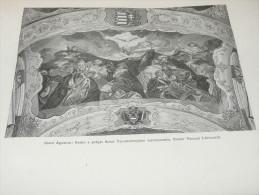 Praha Prague  Szent Ágoston Nástěnná Malba Hungary Österreich Monarchie Ceska Republika Holzschnitt Gravur 1888 - Prints & Engravings