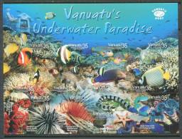 132 VANUATU 2005 - Fond Marin Poissons (Yvert 1189/200) Neuf ** (MNH) Autocollant Adhesif - Vanuatu (1980-...)