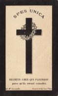 Mortuaire Leopold Eugene H J De Biseau De Bougnies Bougnies 1811 - Mons 1888 - Images Religieuses