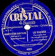 78 Trs - 25 Cm - état TB - CRISTAL 4005 -  Maurice DUBOIS Et Son Orchestre Musette - 4 Succès (2 Par Face) - 78 T - Disques Pour Gramophone