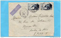 MARCOPHILIE-lettre -T O E -poste Aux Armées-INDOCHINE  1949-+afft-double  Taxe Avion 20frs Pointe Du RazX2- Pour Françe - Marcophilie (Lettres)