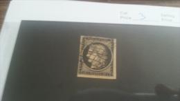 LOT 223222 TIMBRE DE FRANCE OBLITERE N�3 VALEUR 60 EUROS