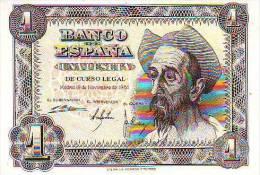 ESPAÑA BILLETES LOTE ERRE 07 EMISION 1951 1 PESETA SIN CIRCULAR - 1-2 Pesetas