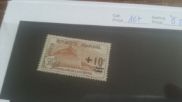 LOT 223237 TIMBRE DE FRANCE NEUF* N�167 VALEUR 27 EUROS