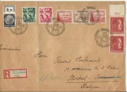 1938  Grossbrief Von Bremen Nach Stockel - Woluwe, Belgien   R-Zettel Bremen-Börse (RR) - Cartas