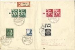 1938 Eingeschrieben Grossbrief Von Berlin Nach Stavelot, Belgien - Cartas