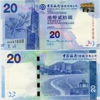 HONG KONG - BoC     20 Dollars     P-341a        1.1.2010         UNC - Hong Kong