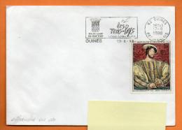 62 GUINES  SITE DU CAMP DU DRAP D'OR  17 / 8  / 1998  Lettre Entière N° R 516 - Marcophilie (Lettres)