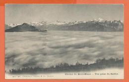 JAD-14 Chaine Du Mont-Blanc Et Mer De Brouillard, Vue Prise Du Salève,  Non Circulé. - Chamonix-Mont-Blanc