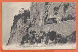 JAD-23 Chemin De Fer Du Salève, Train, Cheminot, Chateau De Monnetier. Cachet Genève Et Monthors Ardennes 1908 - France