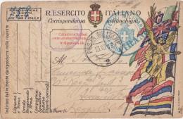 SI53D Italia Italy POSTA MILITARE Cartolina In Franchigia Con Annullo 13/10/18 E GENIO MILITARE TIRANO - 1900-44 Vittorio Emanuele III