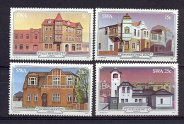 South West Africa SWA (now Namibia)  1981 - Architecture Of Luderitz, Buildings - Complete Set - Swaziland (1968-...)