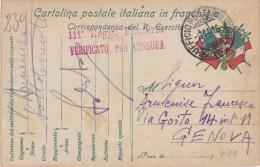 SI53D Italia Italy POSTA MILITARE Cartolina Franchigia 111 REG. FANTERIA 8/11/16 UFFICIO POSTA MILITARE 22° DIVISIONE - 1900-44 Vittorio Emanuele III